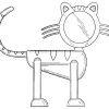 Design Patent Image Cat Figurine